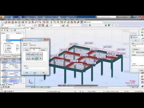 Autodesk Robot Structural Analysis-3D Reinforced Concrete Building  Part 1 Civil Engineering