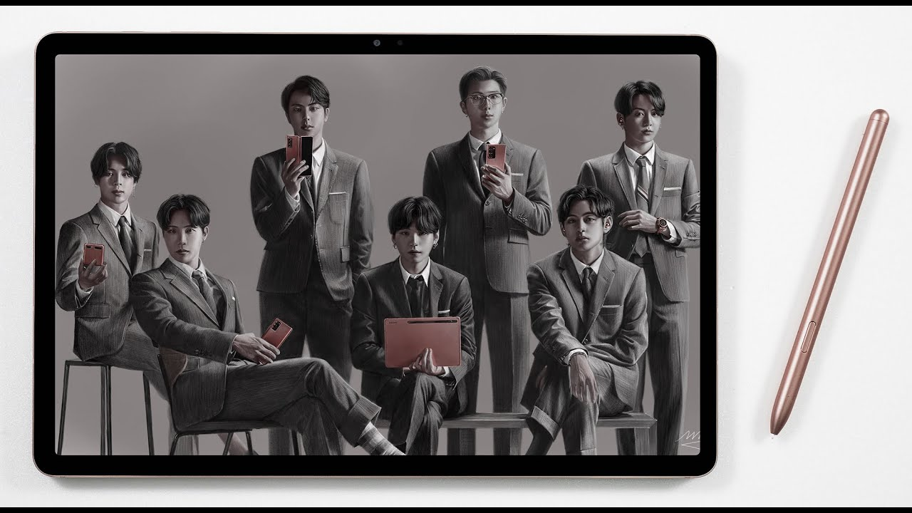 How to Draw BTS on the Galaxy Tab S7+