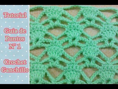 Paso a paso de punto crochet ganchillo calado ( Número N° 1) - YouTube