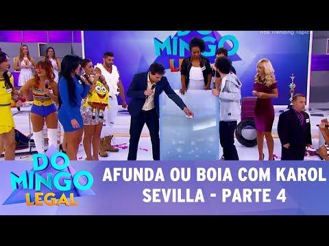 Domingo Legal (02/07/17) - Afunda ou Boia com Karol Sevilla - Parte 4