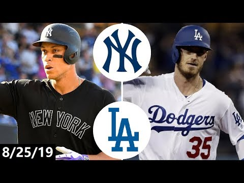New York Yankees Vs Los Angeles Dodgers Highlights | August 25, 2019 (2019 MLB Season)