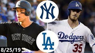 New York Yankees vs Los Angeles Dodgers Highlights   August 25, 2019 (2019 MLB Season)
