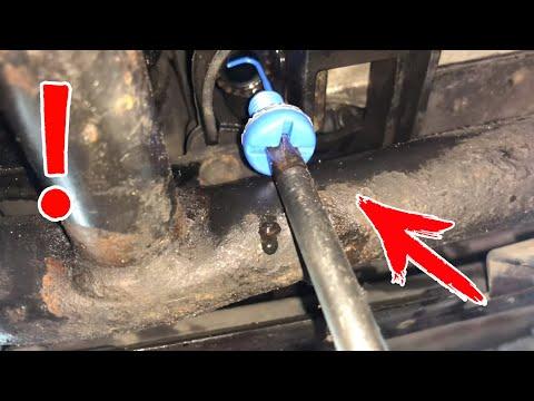 Обломался болт сливная пробка радиатора BMW X5 E53 radiator drain plug broke down