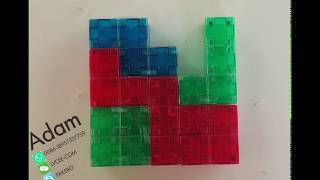 How to use Magnetic Building Blocks Brain Puzzle Game to build a square