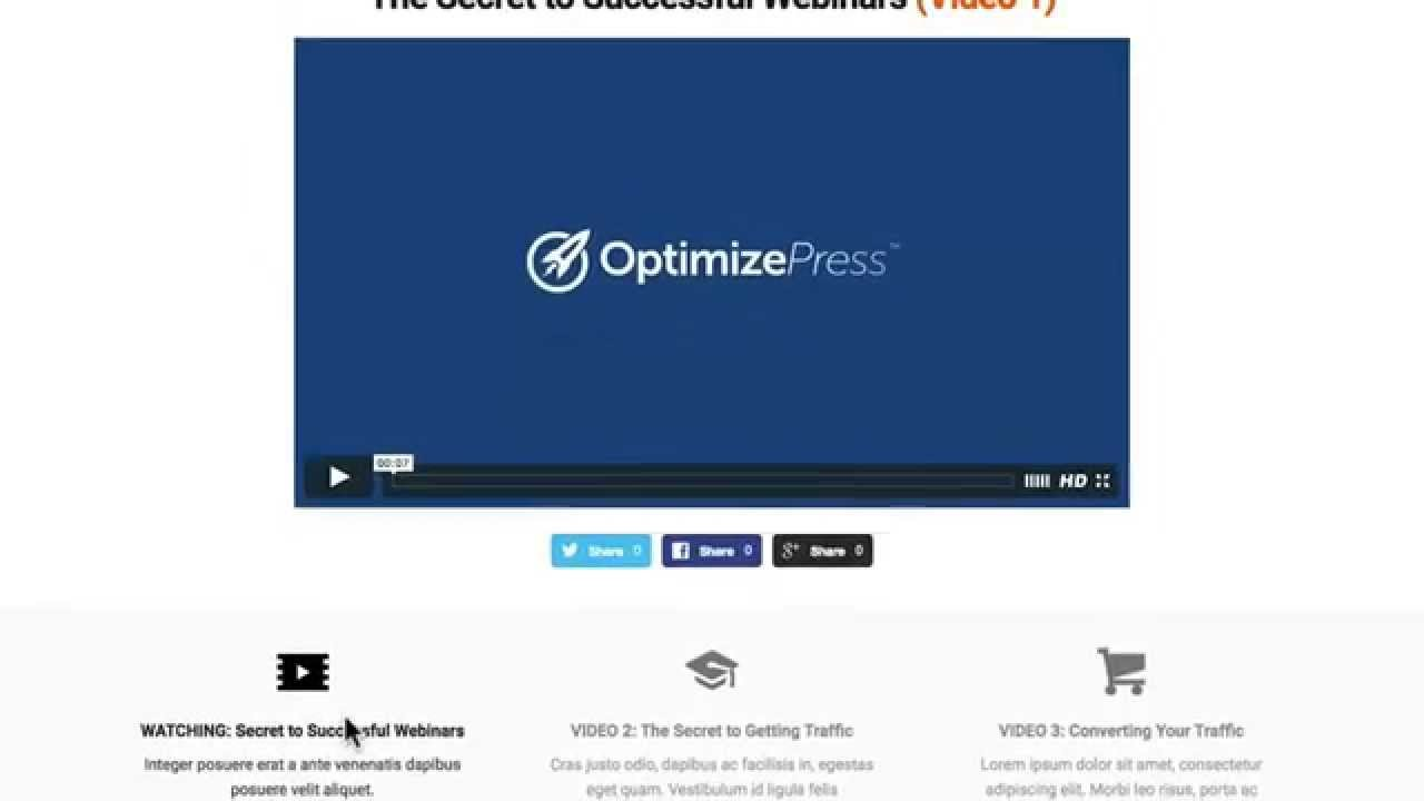 Optimizepress book launch video page template youtube optimizepress book launch video page template maxwellsz