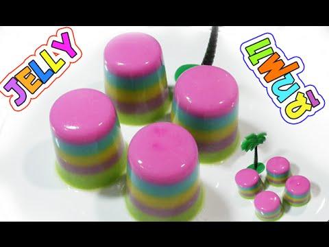 วิธีทำวุ้นแฟนซีสายรุ้ง - How to make jelly rainbow