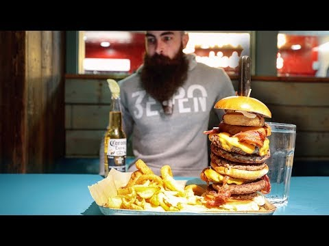 THE UNDEFEATED GIRAFFE BURGER CHALLENGE | The Chronicles of Beard Ep.107