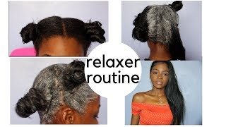 Relaxer Routine + Hair Update!