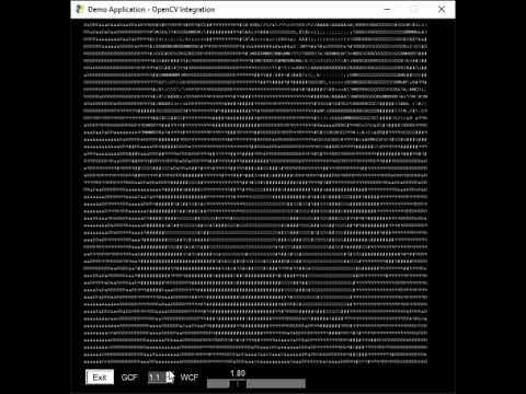 OpenCV PySimpleGUI Webcam Demo - Watch yourself as a realtime ASCII movie