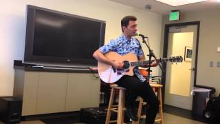 """Andy Grammer at Mix 1065 in Baltimore 8/22/14, performing """"Back Home"""