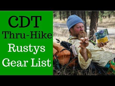 A Triple Crowners' Gear list on the CDT