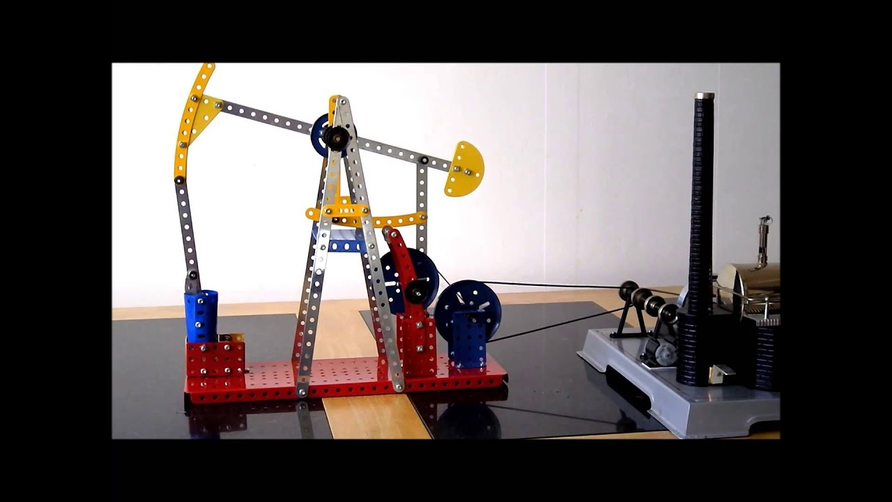 wilesco d22 and meccano nodding donkey youtube. Black Bedroom Furniture Sets. Home Design Ideas