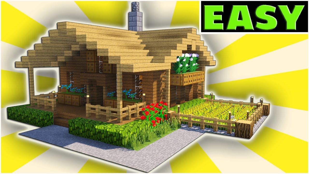 Minecraft Starter House Tutorial Starter Home Tutorial Youtube