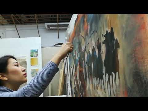 Kazakhstan artist in Romania | Казахстанская художница в Рум