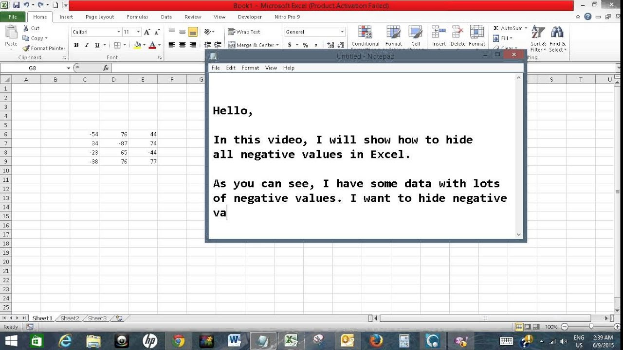 How to make an excel column negative - Hide All Negative Values In Excel