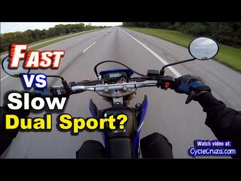 Slow vs Fast Dual Sport Motorcycle?   MotoVlog