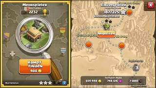 Clash of Clans Goblin Mission with only spells win!