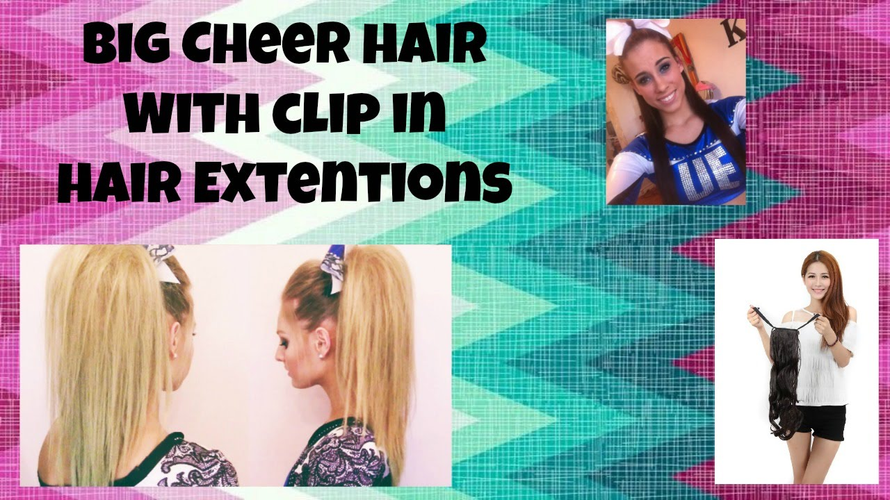 How To Do Cheer Hair With Extensions