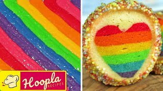 Rainbow Desserts | DIY Rainbow Treats | Quick and Easy Recipes by HooplaKidz Recipes