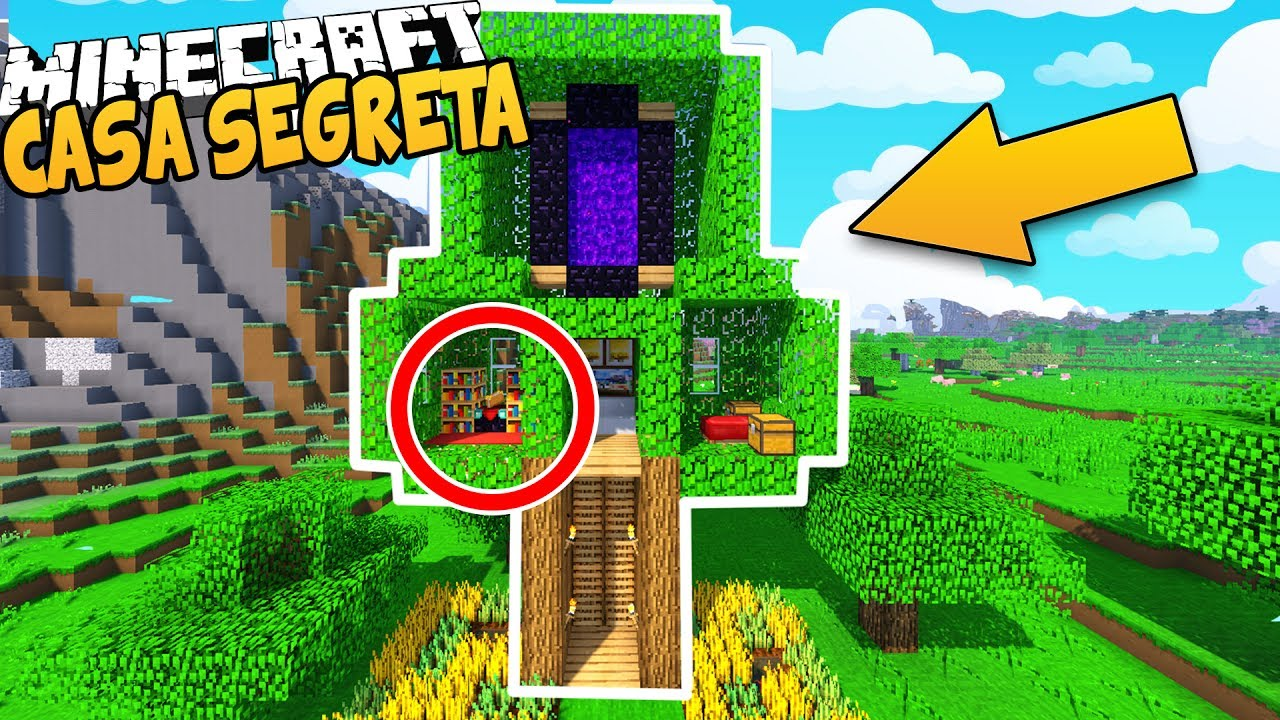Casa sull 39 albero segreta su minecraft youtube for Case belle su minecraft