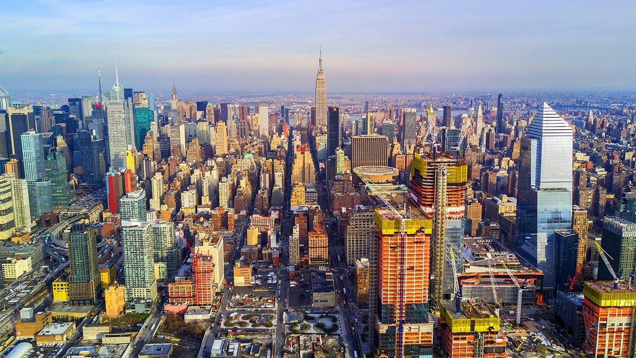 New York City NYC Manhattans Westside Aerial Drone Video DJI Mavic Pro 4K