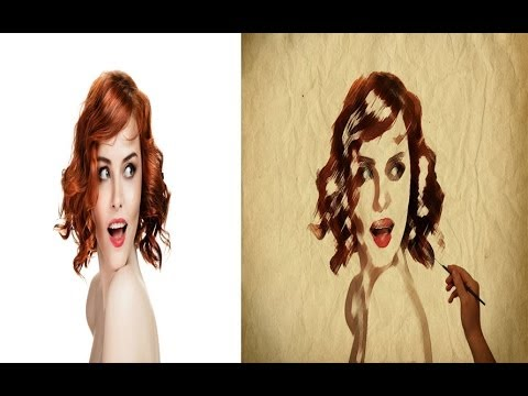Online Photoshop Tutorials: Painting Canvas Effect