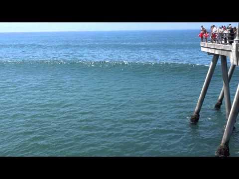 Huntington Beach, Lifeguards Pier Jumping - 5/31/14