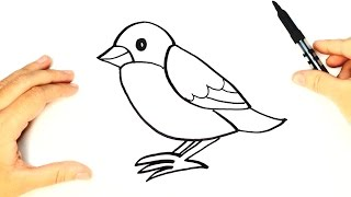 How to draw a Bird for kids | Bird Drawing Lesson Step by Step
