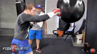 Canelo Alvarez COMPLETE Boxing workout for Miguel Cotto- Cotto vs. Canelo video