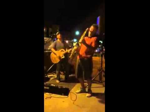 Mario Perrett on Sax- Is This Love Bob Marley