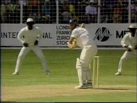 Download Ian Bishop roughs up Robin Smith- West Indies vs England 1990 5th test Antigua