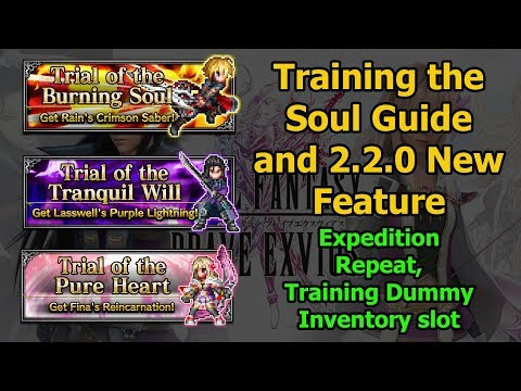 Final Fantasy Brave Exvius Training The Soul All Missions Guide and 2.2.0 Feature (#153)