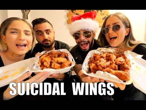 Thumbnail: EATING THE HOTTEST WINGS IN THE WORLD!! (SUICIDAL WINGS)
