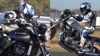 Z900 vs CB-F ・'18 Kawasaki Z900RSとHONDA CB1100 project RSの夢のバーチャル対決!