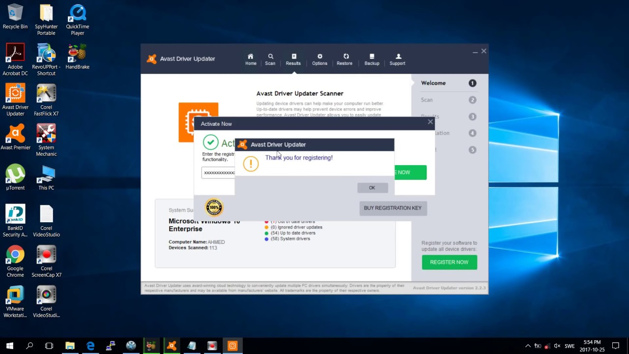 avast driver updater free registration key