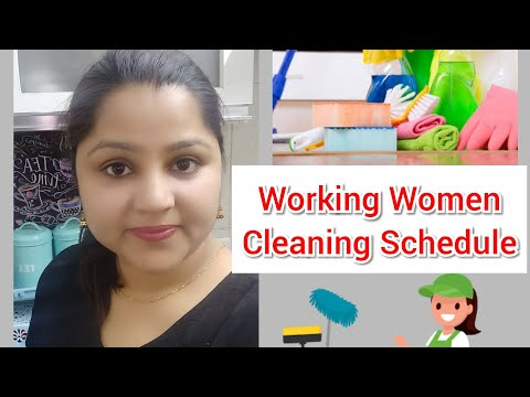 Quick Cleaning Schedule | Working Mom Schedule | Indian Home