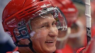 "Putin ""Scores"" Seven Goals Against Pro Hockey Stars"