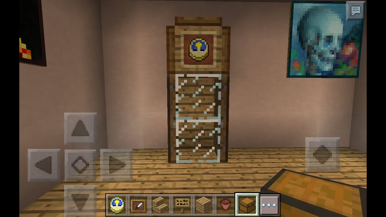How To Build A Grandfather Clock In Minecraft Pe Youtube