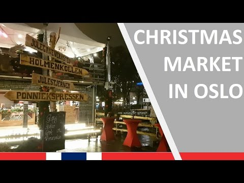 1 minute at Christmas Market in Oslo, November 22, 2016
