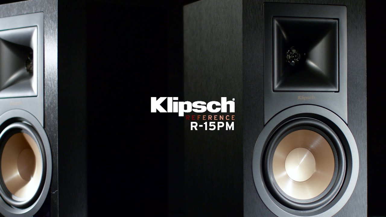 Klipsch Reference R-15PM Powered Monitors - YouTube