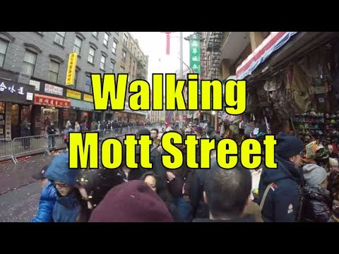 ⁴ᴷ Walking Tour of Mott Street, Chinatown, NYC after the 2018 Chinese New Year Parade