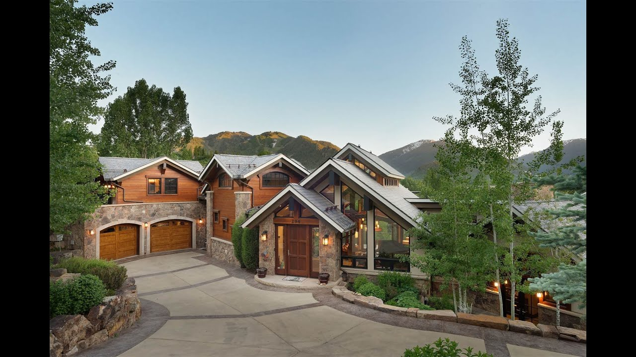 Mountain contemporary estate in aspen colorado youtube for Modern homes colorado