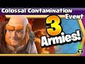 3 DIFFERENT GIANT POISON EVENT ARMIES! - Colossal Contamination Event - Clash of Clans - TH9 DE Army