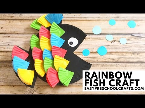 Easy Preschool Crafts: Paper Plate Rainbow Fish Craft