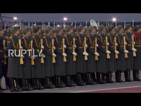 Russia: Uzbek President Mirziyoyev arrives in Moscow for state visit