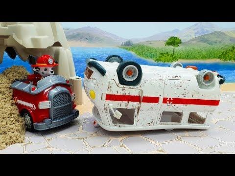 Мультики для детей с игрушками Щенячий Патруль - Команда! Новые видео про машинки смотреть онлайн