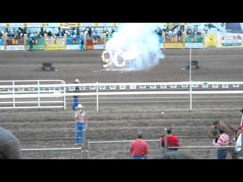Red Bluff Round-Up 2011 National Anthem - Josh Mitchell Marine Corps Veteran Sings