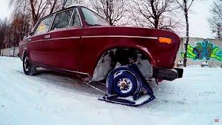 Что будет, если обуть ЛЫЖИ вместо колес! - АвтоДичь #2