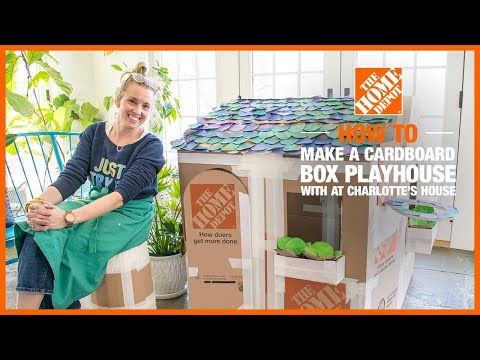 How To Build A Box Playhouse With @At Charlotte's House | The Home Depot Kids Workshops