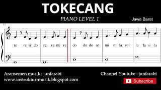 not balok tokecang - piano level 1 - lagu daerah jawa barat / sunda - doremi solmisasi